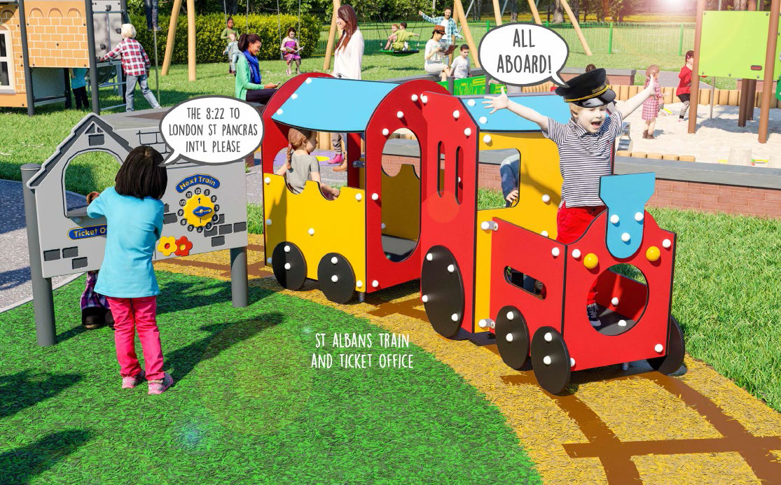 Imaginary Play Train and Ticket Office